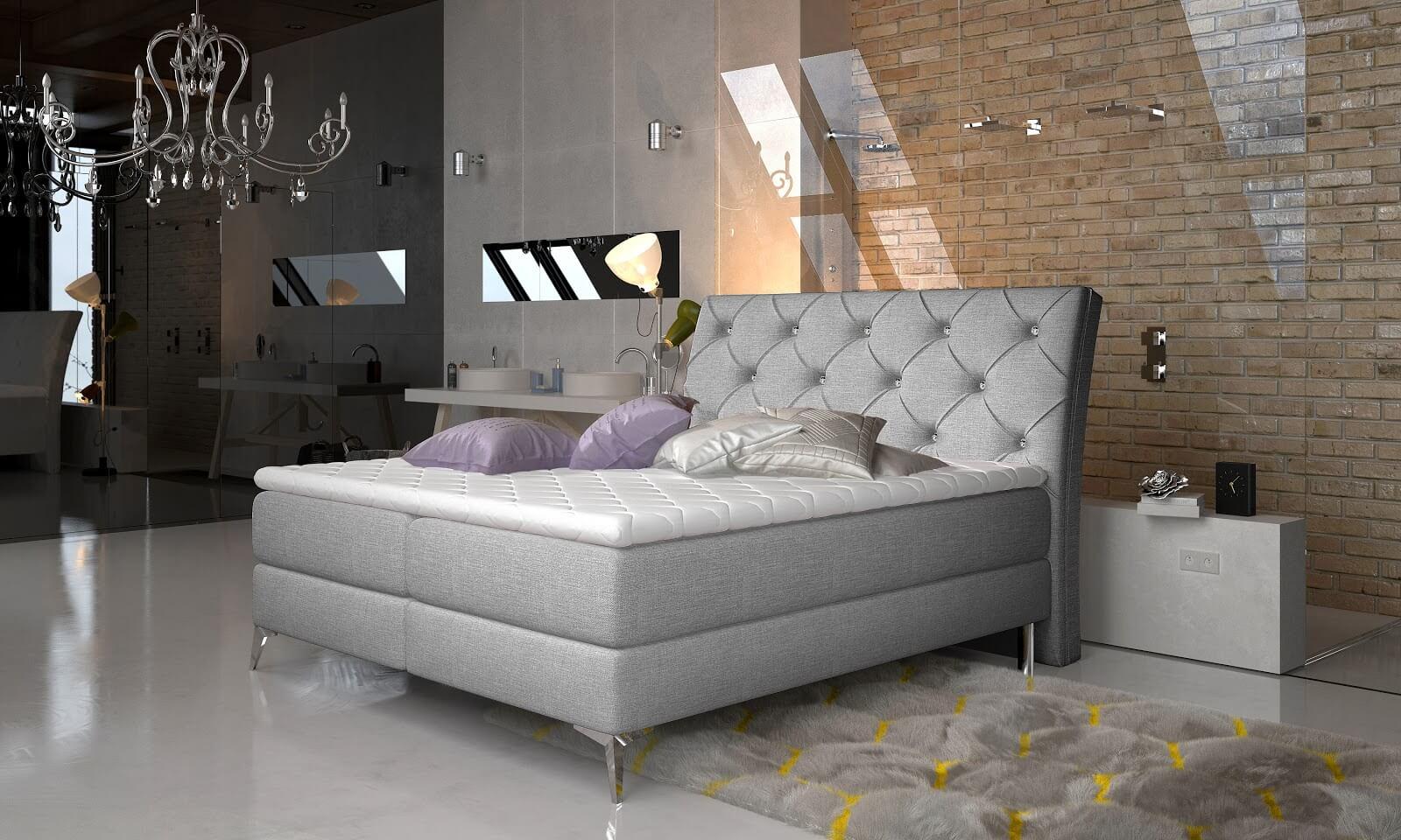 Łóżko kontynentalne Adel w stylu francuskim