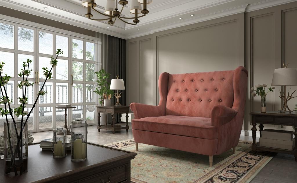 kanapa w salonie